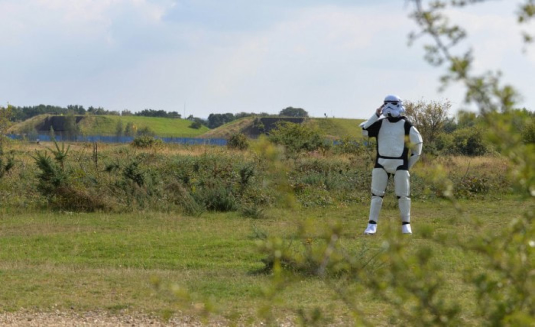 Stormtrooper on Greenham Common